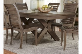 Bayside Crossing Chestnut Extendable Trestle Dining Table