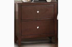 Cullen Brown Cherry Nightstand