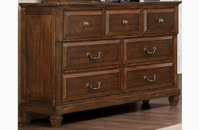 Bardwell Brown Cherry Dresser