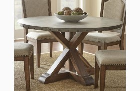 Wayland Brushed Tobacco Metal Round Dining Table