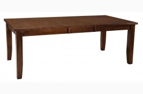 Abaco Warm Dark Tobacco Rectangular Extendable Table