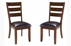Abaco Warm Dark Tobacco Side Chair Set of 2