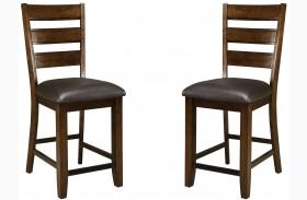 Abaco Warm Dark Tobacco Seat Height Stool Set of 2