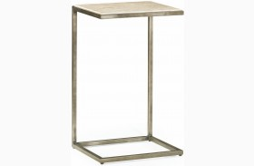 Modern Basics Natural Travertine Accent Table