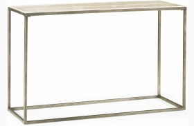 Modern Basics Natural Travertine Sofa Table