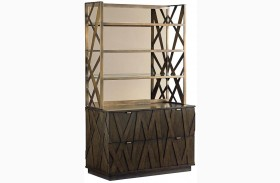 Cross Effect Prism File Chest with Metal Hutch