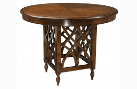 Woodmont Brown Cherry Round Counter Height Table