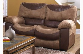 Portman Saddle/Chocolate Power Reclining Loveseat