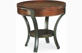 Sunset Valley Rich Mahogany Round End Table