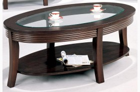 Devon Cappuccino Finish Coffee Table - 5525
