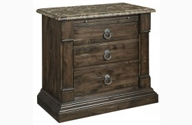 European Villa Umbria Wood Top Bachelor's Chest