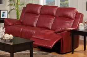 Cortez Red Power Reclining Sofa