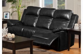 Cortez Black Power Reclining Sofa