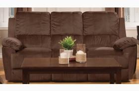 Parker Jayden Chocolate Reclining Sofa