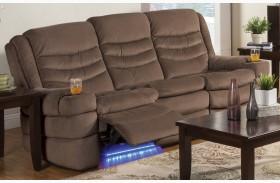 Rolling Hills Tan Power Reclining Sofa