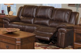 Hastings Summit Brown Power Reclining Sofa