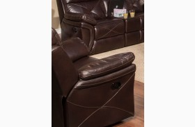 Galaxy Snake Chocolate Glider Recliner