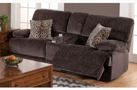 Idhao Rumour Shadow Power Reclining Loveseat with Console