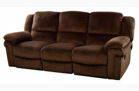 Jared Chocolate Power Reclining Sofa
