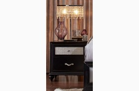Barzini Black Nightstand