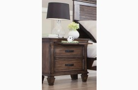 Franco Burnished Oak Nightstand