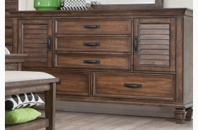 Franco Burnished Oak Dresser