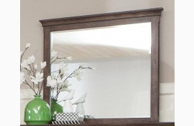 Franco Burnished Oak Mirror