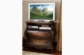 Bayard Park Dark Brown Cherry Tv Chest