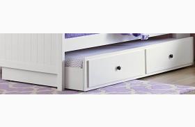 Lark Bright White Twin Trundle/Toybox