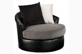 Armant Ebony Swivel Accent Chair