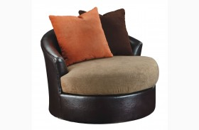 Armant Mocha Swivel Accent Chair
