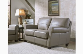 Carlyle Adobe Leather Loveseat