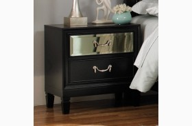 Devine Black Nightstand