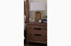 Madeleine Smoky Acacia Nightstand by Donny Osmond