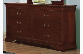 Louis Philippe Reddish Brown Dresser