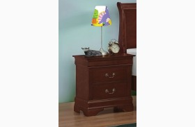 Louis Philippe Reddish Brown Night Stand