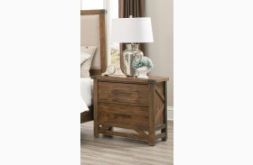 Bridgeport Weathered Acacia Nightstand