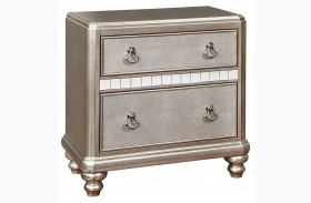 Bling Game Metallic Platinum Nightstand