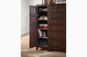 Lanchester Cocoa Left Side Wardrobe Cabinet