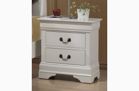 Louis Philippe White Nightstand