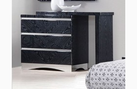 Alessandro Glossy Black Dresser