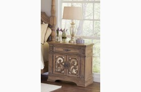 Ilana Antique Linen Door Nightstand