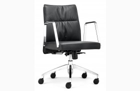 Dean Black Low Back Office Chair