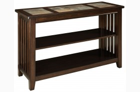 Napa Valley Brown Oak Console Table