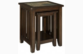 Napa Valley Brown Oak Nesting Table