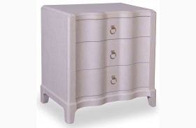 Cosmopolitan Parchment 3 Drawer Nightstand