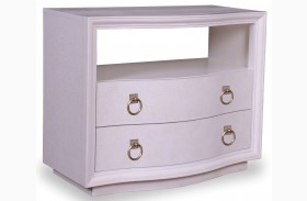 Cosmopolitan Parchment 2 Drawer Nightstand