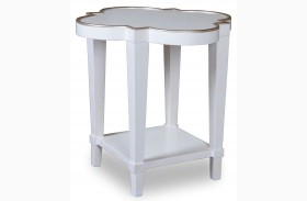 Cosmopolitan Parchment Shaped End Table