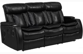Galaxy Black Power Reclining Sofa