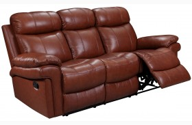Shae Joplin Saddle Leather Power Reclining Sofa